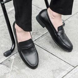Giày lười nam mooka đế pu khâu đế chắc chắn