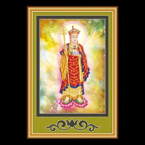 Tranh thêu chữ thập Phật Địa Tạng kt 100x70cm