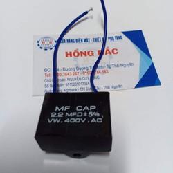 01 Tụ điện 2.2 MF vuông dùng cho quạt và thiết bị điện khác