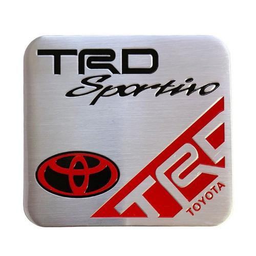 Tem kim loại chữ TRD SPORTIVO dán xe oto màu crom 6x5,5cm CB_SHOP