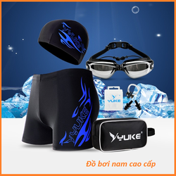 Đồ bơi nam - Quần bơi nam - Combo kính + Mũ +quần + bịt tai