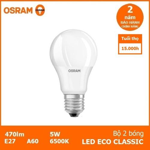Bộ 2 bóng đèn led OSRAM ECO CLASSIC 5W - 4785894 , 18517855 , 15_18517855 , 99000 , Bo-2-bong-den-led-OSRAM-ECO-CLASSIC-5W-15_18517855 , sendo.vn , Bộ 2 bóng đèn led OSRAM ECO CLASSIC 5W