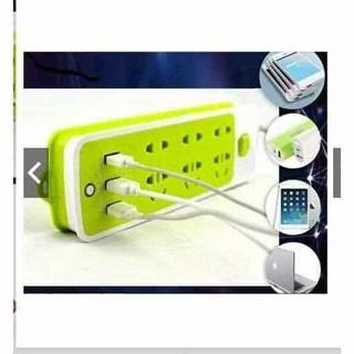 Ổ CẮM ĐIỆN 6 PHÍCH CẮM VÀ 3 CỔNG SẠC USB - OCamDienXanh thumbnail