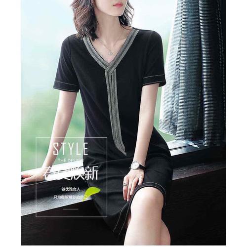 Đầm Suông Phối Phụ Kiện Jennie Cao Cấp - Hàng Nhập