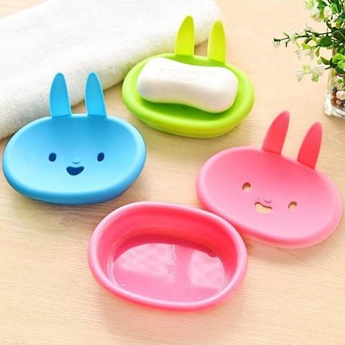 Kệ đựng xà bông hình thỏ đáng yêu bằng nhựa