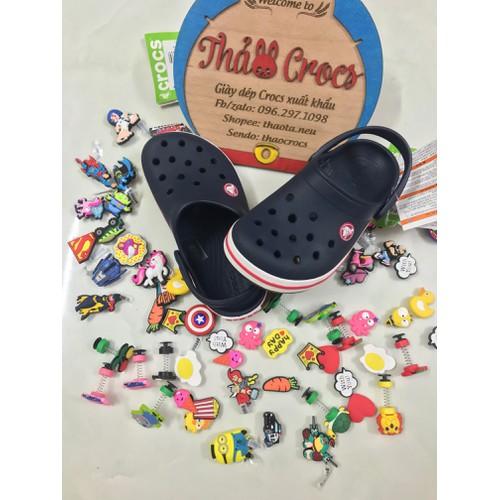 Sục nhựa Crocs-Band trẻ em-Xanh đen