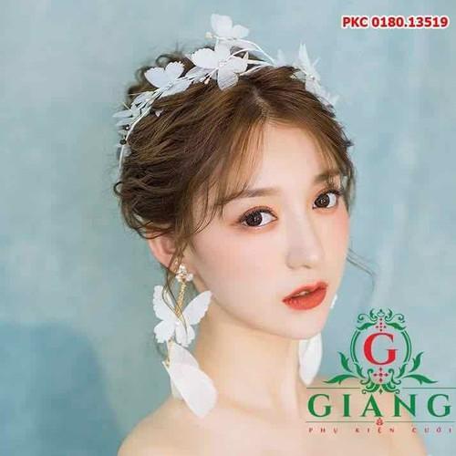 cài tóc cô dâu voan bướm trắng kèm bông tai phụ kiện cưới 2019 - 8908396 , 18514977 , 15_18514977 , 180000 , cai-toc-co-dau-voan-buom-trang-kem-bong-tai-phu-kien-cuoi-2019-15_18514977 , sendo.vn , cài tóc cô dâu voan bướm trắng kèm bông tai phụ kiện cưới 2019