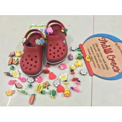 Sục nhựa Crocs-band cho bé -Đỏ