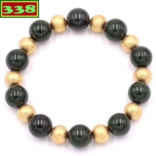 Vòng đeo tay đá lục sa 10 ly VLUSHVT1 - Chuỗi hạt đeo tay đá phong thủy