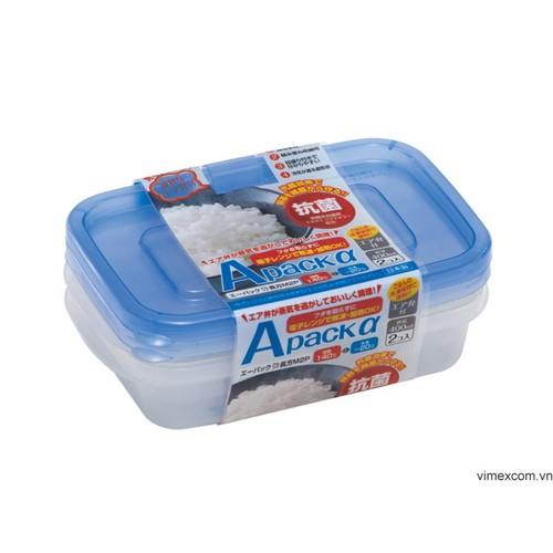 Set 2 hộp đựng thực phẩm chịu nhiệt lò vi sóng 400ml - Hàng nội địa Nhật