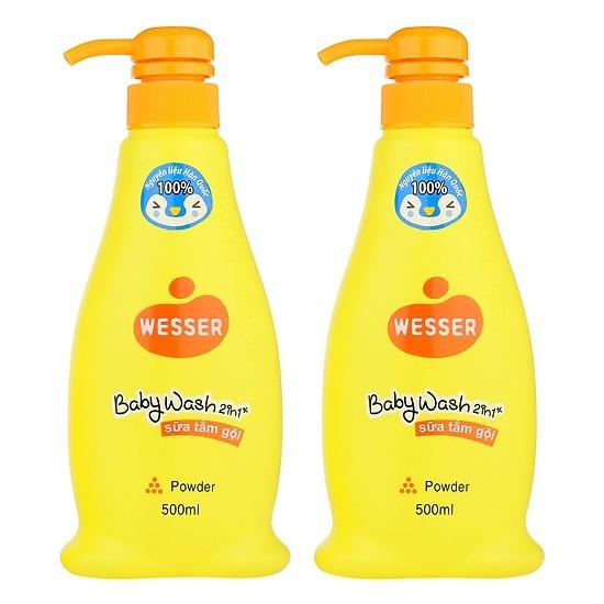 Sữa tắm gội Wesser 2 in 1 hương phấn 500ml