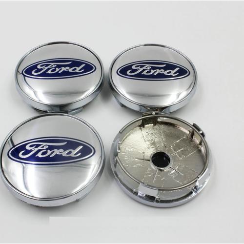 Logo chụp mâm bánh xe ô tô Ford - FORD60mm - Các mầu: Bạc, Xanh