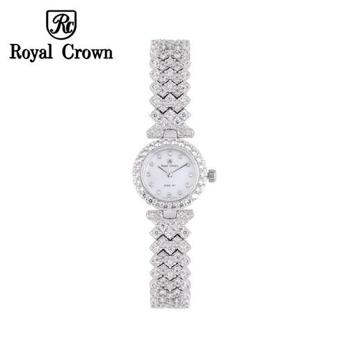 Đồng hồ nữ chính hãng Royal Crown 6305L dây đá vỏ trắng