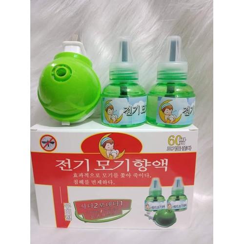 Đèn đuổi muỗi bằng tinh dầu Hàn Quốc - Kèm 02 chai tinh dầu