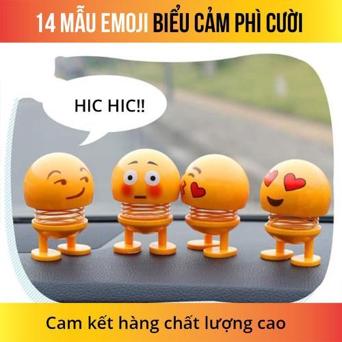 Thú Nhún Emojji con lắc lò xo trên xe hơi, ô tô sang trọng - Siêu Chất - Siêu Vui Emoji