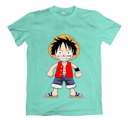 Áo thun nam hình Luffy cute