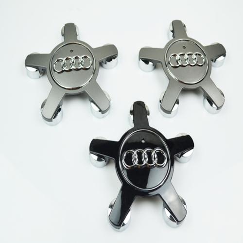 Logo chụp mâm, lazang bánh xe Audi đường kính 135mm A6Q5135 - Mầu Đen và Bạc