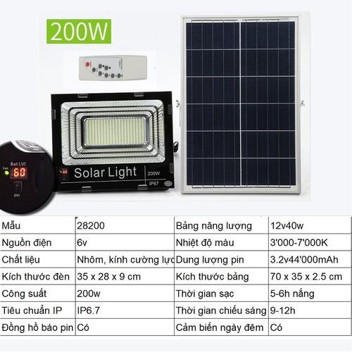 Đèn led năng lượng mặt trời SUN-28200 200W, Đèn năng lượng mặt trời IP 67, Có đèn báo dung lượng pin - 10586192 , 18532570 , 15_18532570 , 1800000 , Den-led-nang-luong-mat-troi-SUN-28200-200W-Den-nang-luong-mat-troi-IP-67-Co-den-bao-dung-luong-pin-15_18532570 , sendo.vn , Đèn led năng lượng mặt trời SUN-28200 200W, Đèn năng lượng mặt trời IP 67, Có đè
