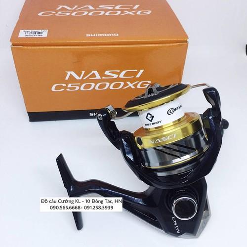 MÁY CÂU CÁ  Shimano Nasci 4000XG và C5000XG