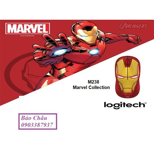 Chuột Không Dây LGT M238 Màu Vàng - Iron man