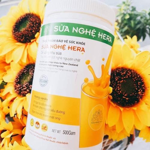 Combo 2 hộp sữa nghệ Hera 500GR - trị đau dạ dày- đẹp gia