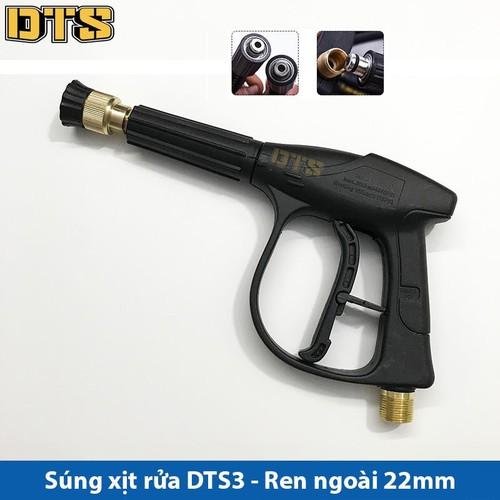Súng xịt - súng rửa xe áp lực cao DTS3 Ren ngoài 22mm