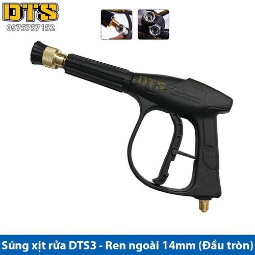 Súng xịt - súng rửa xe áp lực cao DTS3 Ren ngoài 14mm_Đầu tròn