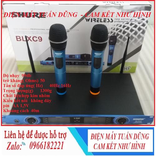 Micro karaoke không dây - Micro Không Dây SHU.RE BLX C9