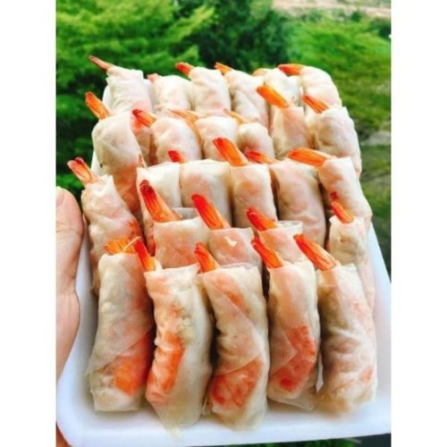 5 Xấp Bánh tráng cuốn chả ram tôm đất Bình Định