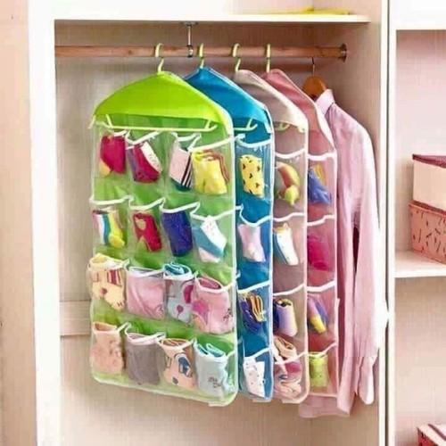 tủ vải xếp treo tường 16 ngăn