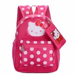 Balo Vải Dù Hello Kitty Cho Bé