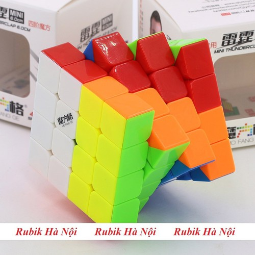 Rubik 4x4x4 Qiyi Thunderclap 60mm  Stickerless Có Nam Châm