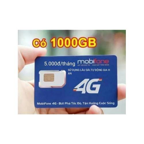 Sim 3G mobi 5K một tháng có 1000gb