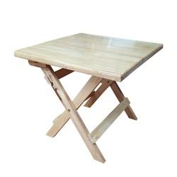 Bàn cafe xếp gọn 60x45x50cm bằng gỗ