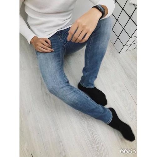 quần jeans nam trơn