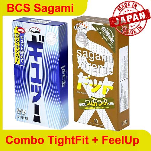 Combo 2 hộp bao cao su Sagami Tght Fit + FeelUp
