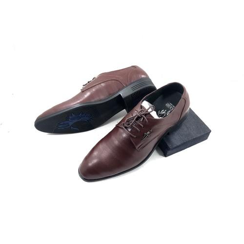 Giày tây nam da bò cao cấp , đế cao su [ Bảo hành 1 năm ]