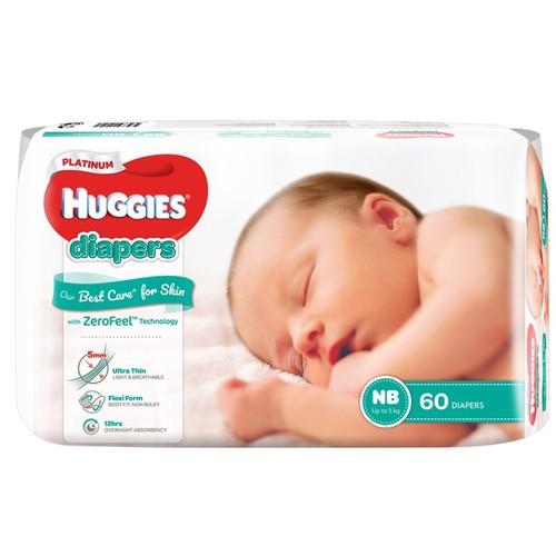 Tã dán huggies platinum newborn 60 miếng - nb60 mới