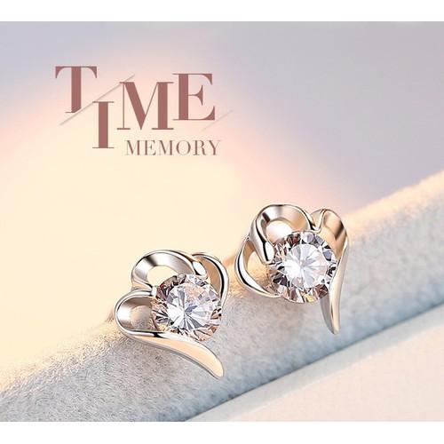 Khuyên tai nữ họa tiết đính đá độc lạ - Trang sức nữ bạc 925