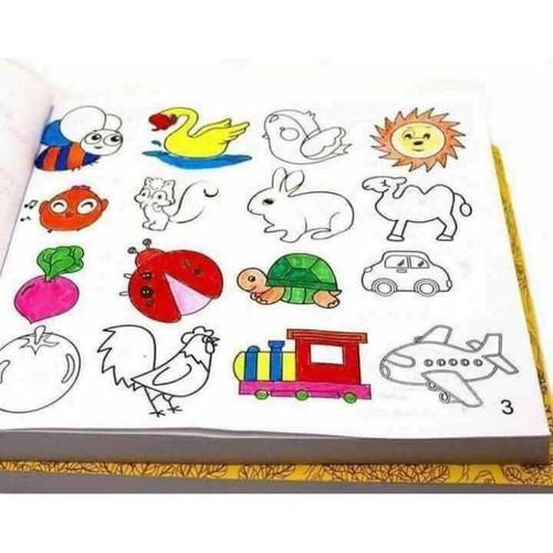 Sét 2 bộ Vở tập tô, tập vẽ 5000 hình+tặng kèm bộ 12 bút chì màu
