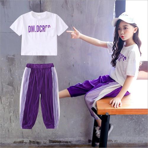 BG2587 - Bộ quần áo thể thao bé gái