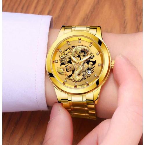 Đồng hồ đồng hồ rồng vàng pin