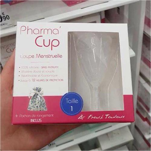 Cốc nguyệt san Pharmacup+túi vải Pháp