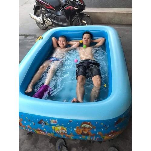 Bể phao bơi 1m5 loại 3 tang