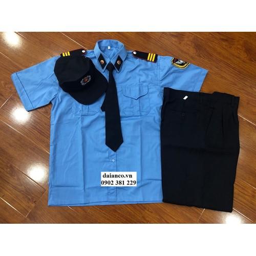 HOT SALES - Bộ quần áo đồng phục bảo vệ xanh dương - đủ size, đủ cấp bậc, đủ phụ kiên chuẩn thông tư 08