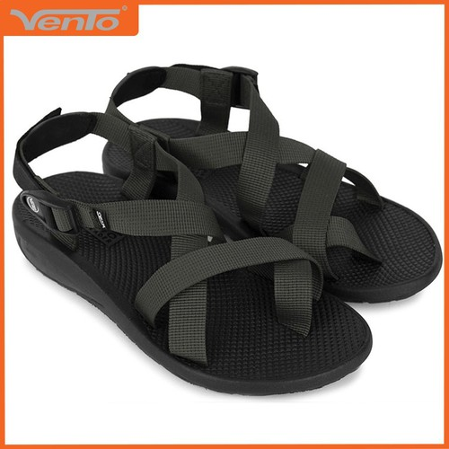 Giày sandal nam hiệu Vento mã số NV65G quai dù màu xám than