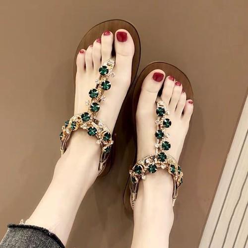 Giày sandal nữ đế bệt đính đá - 8939186 , 18558003 , 15_18558003 , 295000 , Giay-sandal-nu-de-bet-dinh-da-15_18558003 , sendo.vn , Giày sandal nữ đế bệt đính đá