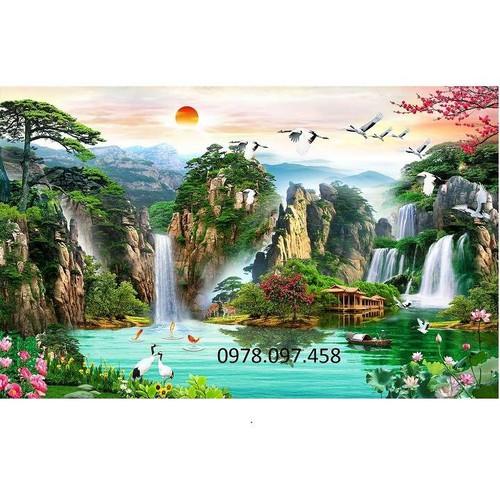 Tranh thác nước cảnh đẹp - 8938771 , 18557263 , 15_18557263 , 1400000 , Tranh-thac-nuoc-canh-dep-15_18557263 , sendo.vn , Tranh thác nước cảnh đẹp