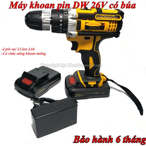 Máy khoan búa DW26V-Máy khoan vặn vít dùng pin DW 26V 2 pin sạc liion - 7635630 , 18568757 , 15_18568757 , 1200000 , May-khoan-bua-DW26V-May-khoan-van-vit-dung-pin-DW-26V-2-pin-sac-liion-15_18568757 , sendo.vn , Máy khoan búa DW26V-Máy khoan vặn vít dùng pin DW 26V 2 pin sạc liion