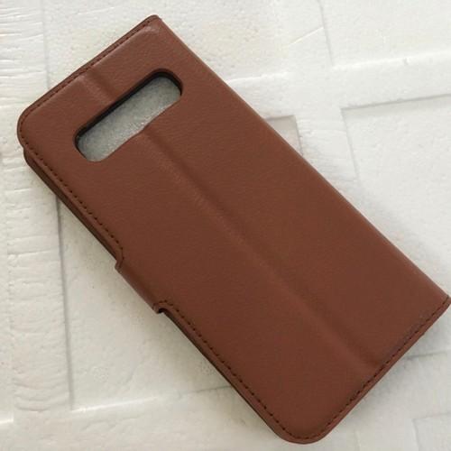 Samsung S10 Plus - Bao da điện thoại chất liệu PU có khe để thẻ